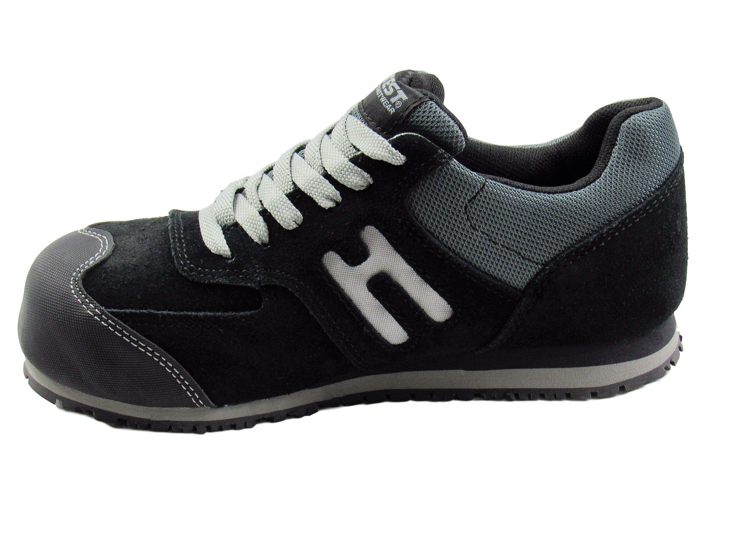 Hytest K17102Womens Athletic Oxford Steel Toe, Electrical Hazard, Slip Resistant Safety Work Shoe (8W US, Black) by Hytest