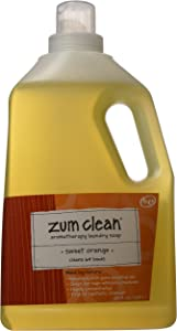 Zum Laundry Soap,Sweet Orange,64 oz.(2-Pack)