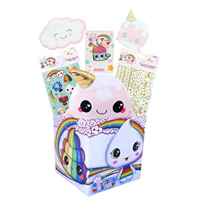 Glitter Galaxy Mystery LookSee Gift Box | Includes 6 Glitter Galaxy Themed Collectibles Unicorns Poop Narwhals | Perfect for Glitter Galaxy Fans | Packaged in A Square 6-Inch Gift Box: Toys & Games
