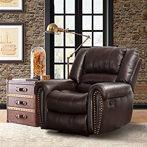 CANMOV Single Breathable Bonded Leather Recliner Chair