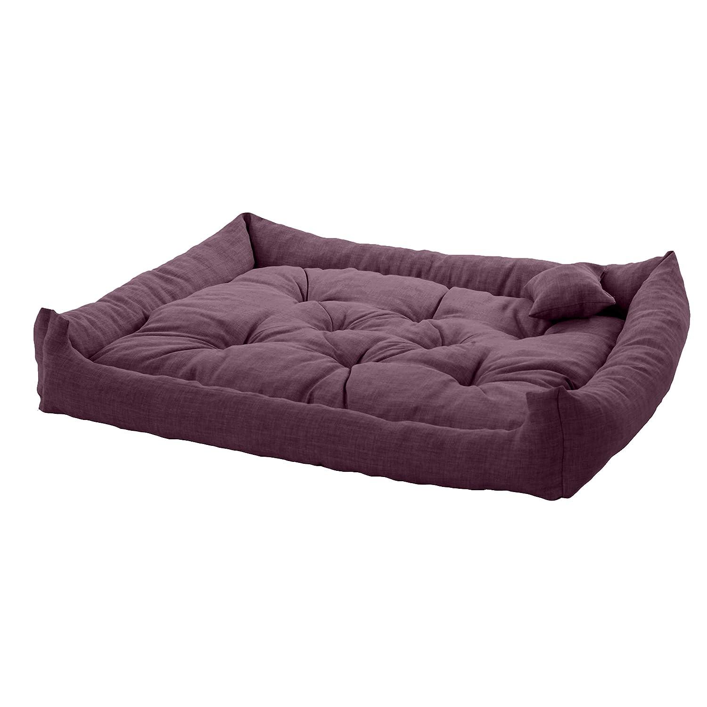 Pet Klub Plum 110cm x 90cm XXL Sized Foam Crumb Filled Tufted Dog Bed in Textured Linen Feel Fabric