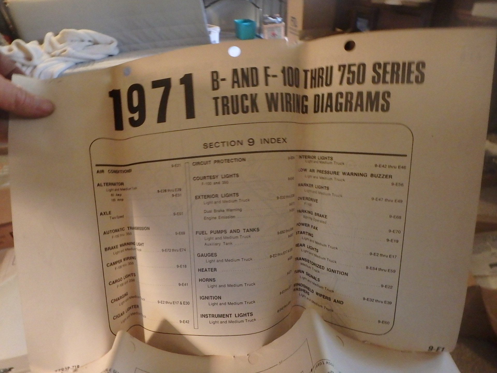 1971 Ford Pickup and Truck Wiring Diagram Original F100 F250 ... F Wiring Diagram on