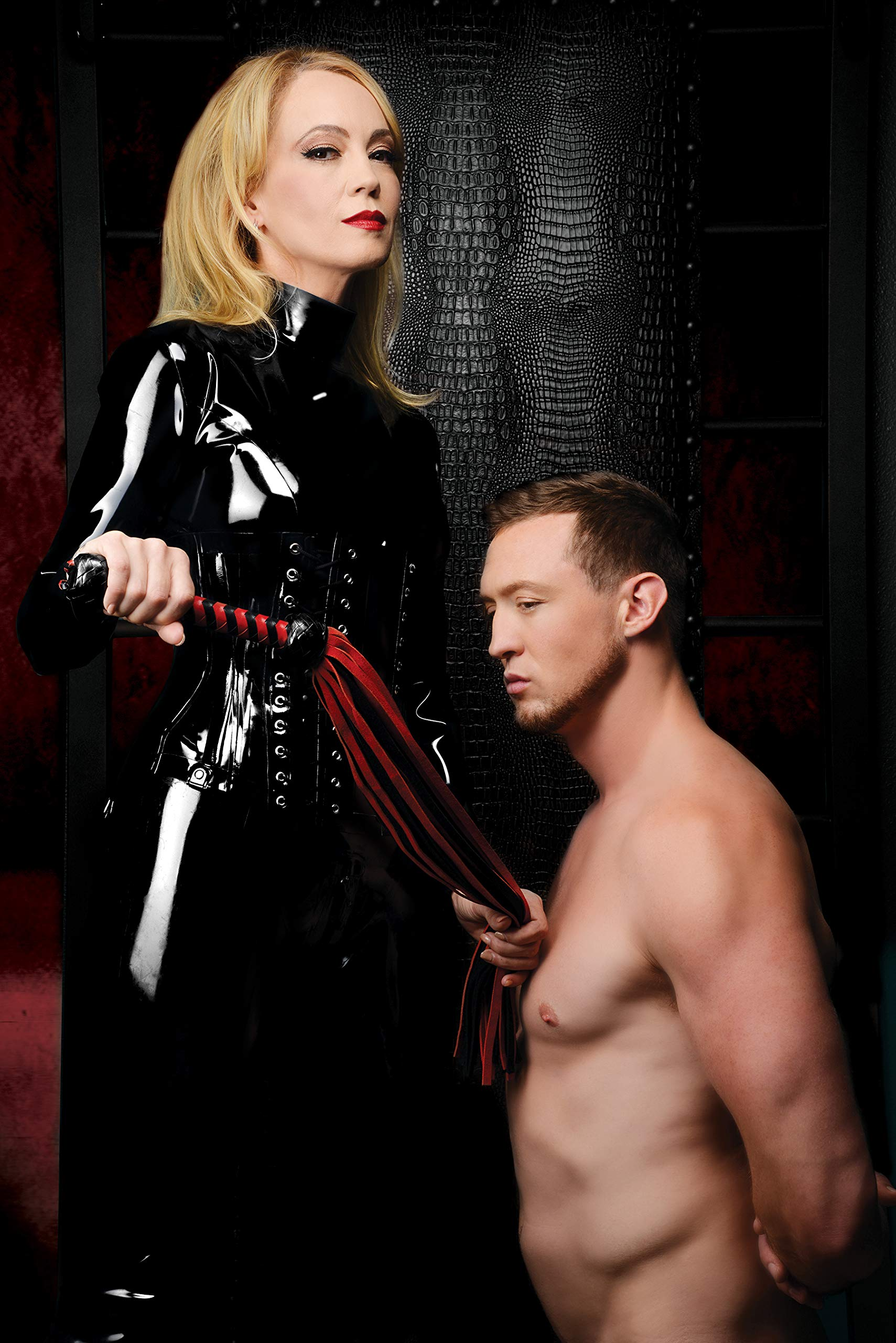 Mistress By Isabella Sinclaire Black and Red Suede Flogger by Mistress by Isabella Sinclaire