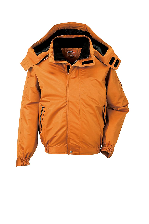 (ジーベック) XEBEC 透湿防水防風防寒着 防寒ブルゾン (男女兼用) (592-xe) 【S~5Lサイズ展開】 B00FMSA8AW L|オレンジ オレンジ L