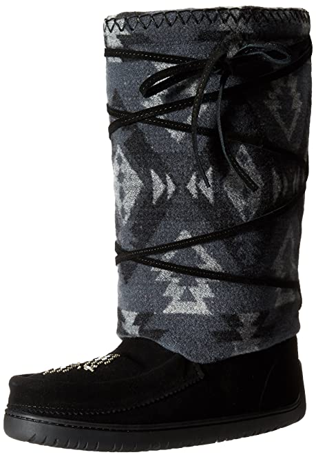 Manitobah Mukluks Women's Wool Lace-Up Mukluk Winter Boot, Black, ...