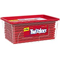 TWIZZLERS Twists Strawberry Flavored Chewy Candy, Bulk, 80 oz Container