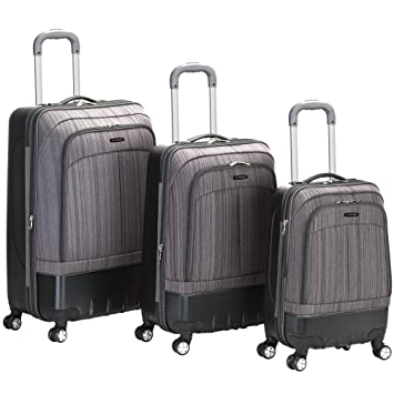 cf3ce219a Amazon.com | Rockland Luggage Milan Hybrid Eva 3 Piece Luggage Set, Grey,  One Size | Luggage Sets
