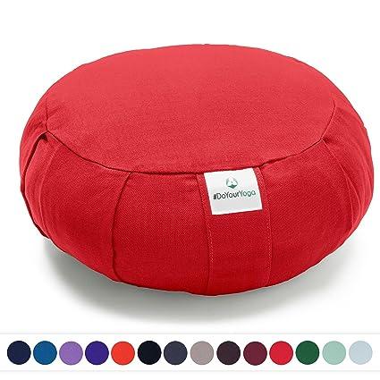 #DoYourYoga Cojín Zafu »Moogli« / Cojín clásico para Yoga y meditación, cojín de Yoga / 100% algodón / 35 cm x 15 cm/Disponible en una Gran Variedad ...