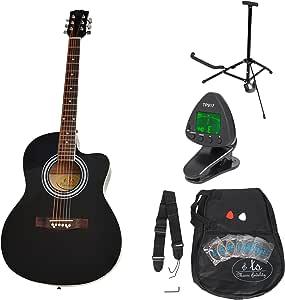 ts-ideen 5331 - Kit de guitarra acústica, color negro: Amazon.es ...