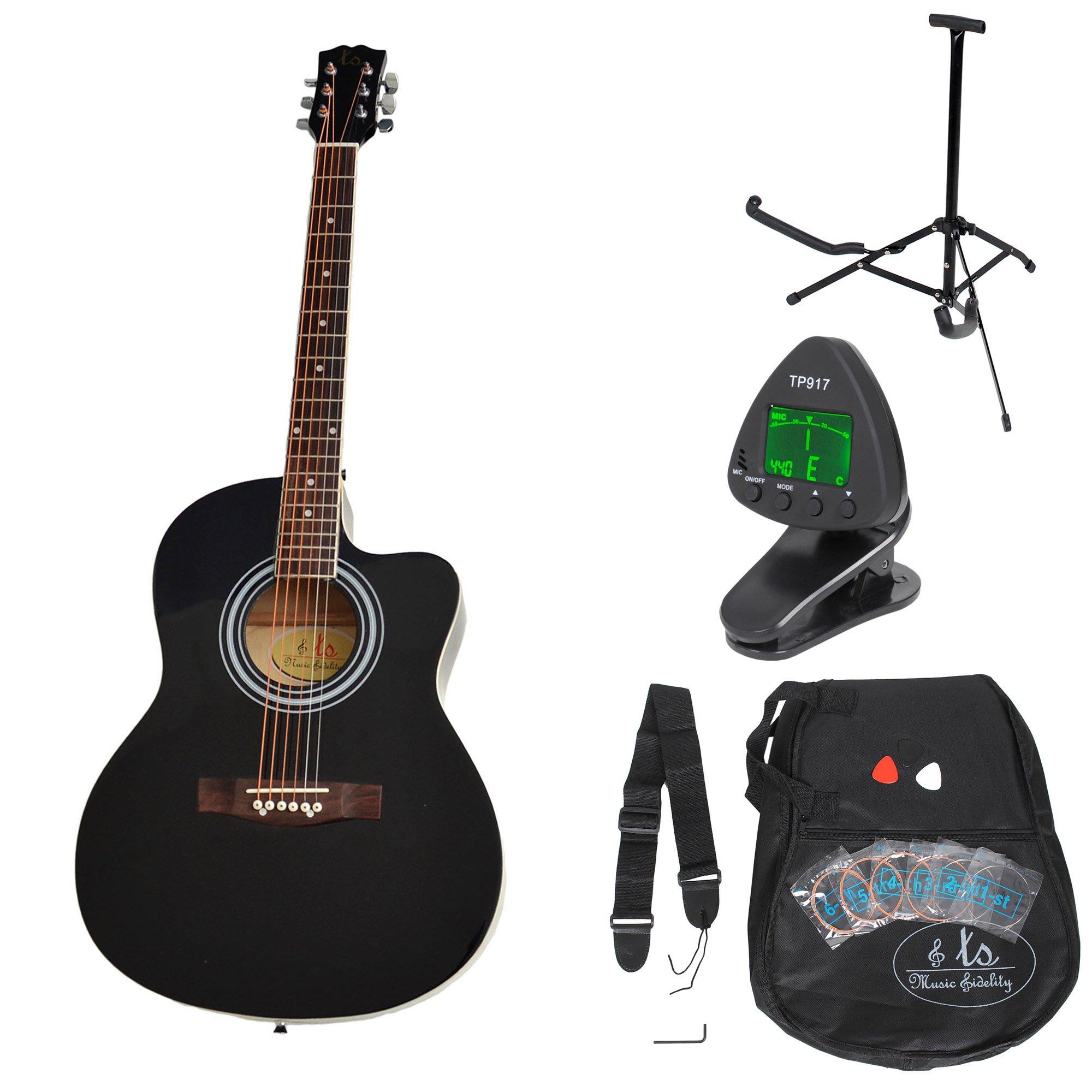 ts-ideen 5331 - Kit de guitarra acústica, color negro product image