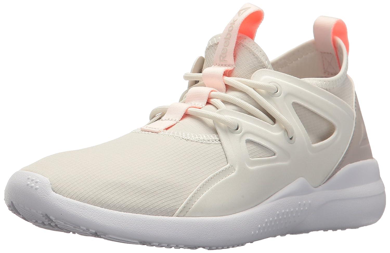 Reebok Women's Cardio Motion Sneaker B01N5M6E1A 5 B(M) US|Chalk/Sand Stone/Sour Melon/White