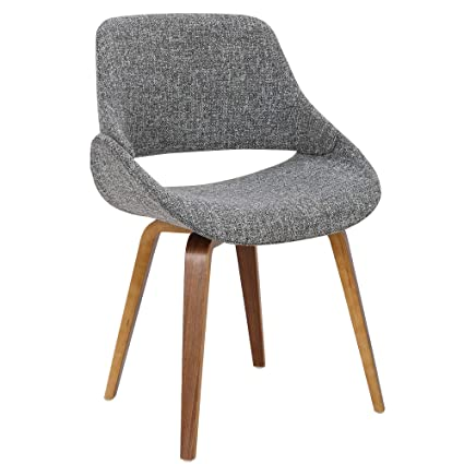 Superbe Amazon.com   LumiSource Upholstered Dining Chair In Walnut ...