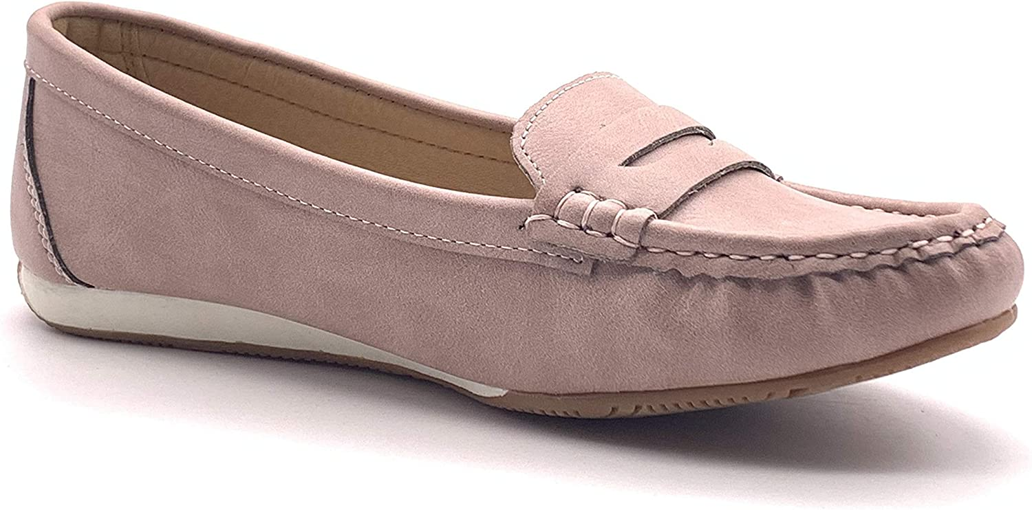Angkorly Chaussure Mode Mocassin Casual Plate Tendance Femme Classique Simple Basique 1 CM