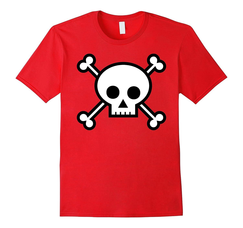 Cartoon Skull Crossbones Jolly Roger Pirate Funny T-Shirt-Art