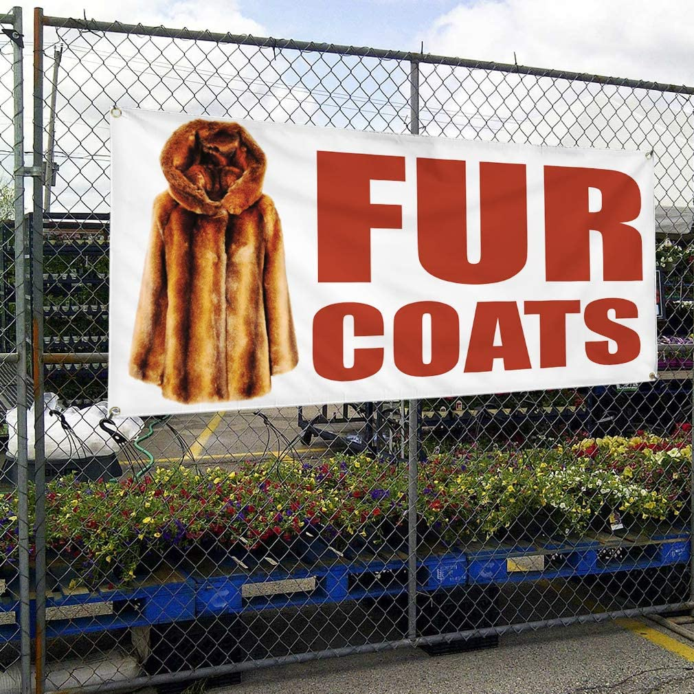 Vinyl Banner Multiple Sizes 0/% Financing Available #1 Business Outdoor Weatherproof Industrial Yard Signs Red 10 Grommets 60x144Inches