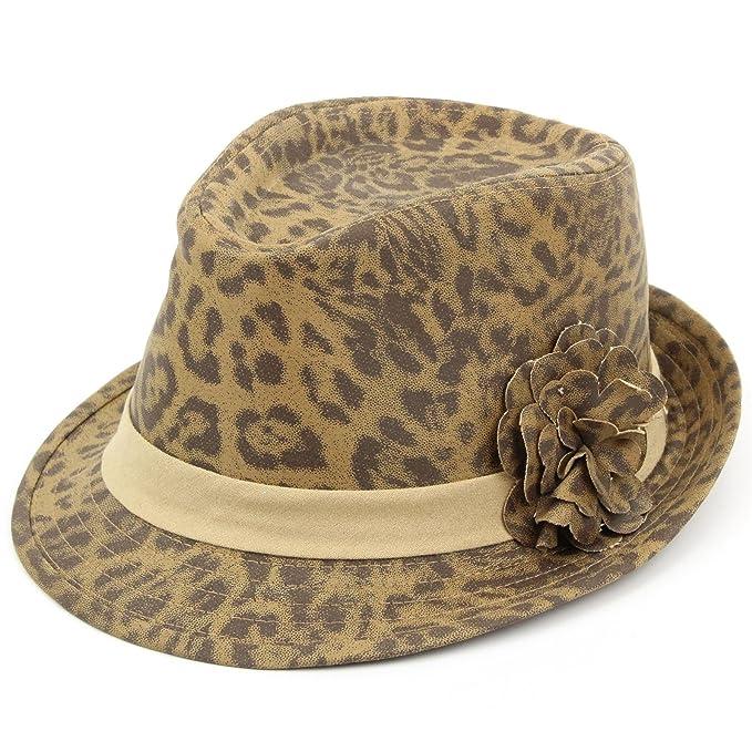 MACULATO Trilby Cappello stampa a macchie Cappello Hawkins Fiore Donna -   1879d5c85a98