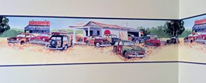 Old Cars Wallpaper Border Woody Junkyard Chevy Fords Packard