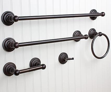Amazoncom Windsor 5 Pc Oil Rubbed Bronze Bathroom Accessories Set