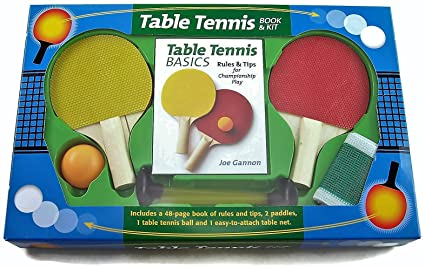 Surprising Amazon Com Table Tennis Book And Kit Toys Games Home Remodeling Inspirations Genioncuboardxyz