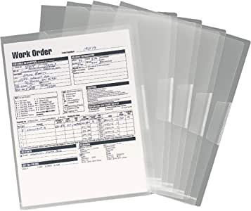 Smead Organized Up Poly Translucent Project Jacket, Letter Size, Clear, 5 per Pack (85751)