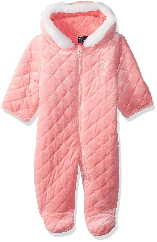 U.S. Polo Assn. Baby Girls Quilted Terry Fleece Pram US Polo Association O_UC28H