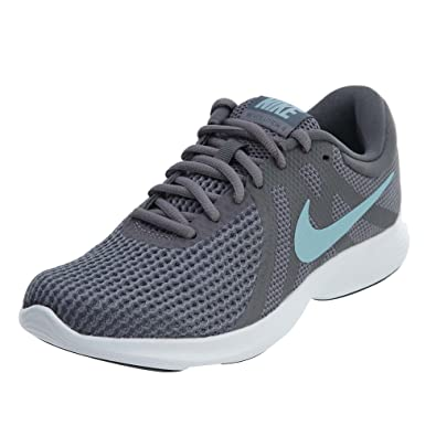 872298da4b559 Nike Womens Revolution 4 Athletic Trainer Running Shoes Gray 9 Medium (B