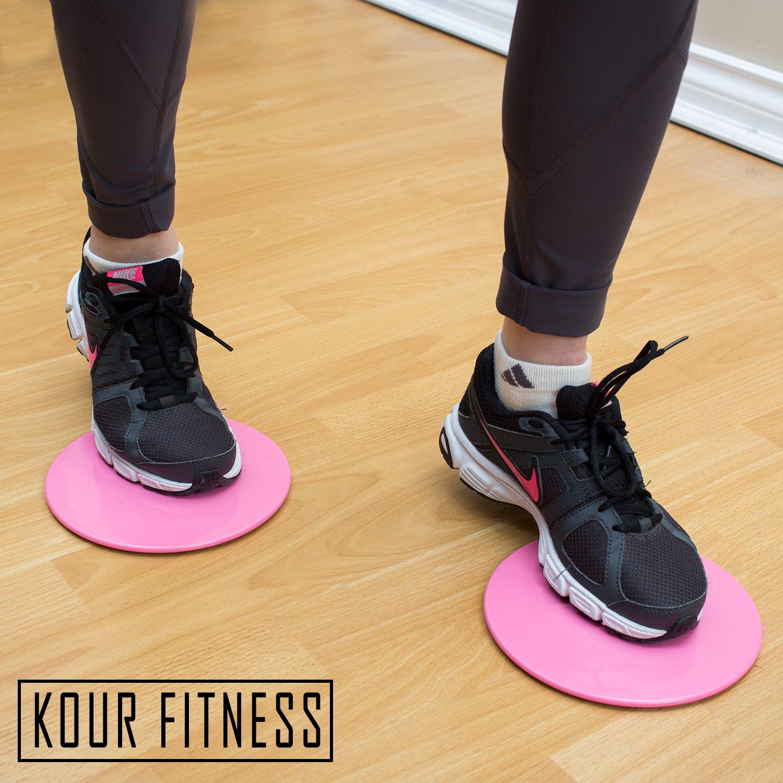 Full Body Abdominal KOUR Gliding Disc Fitness Workout on Carpet Crossfit Exercise Equipment Hardwood Floors Tiles Core Sliders