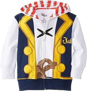 Disney Little Boys' Toddler Jake Costume Hoody, White, 2T 1105490Littleboys