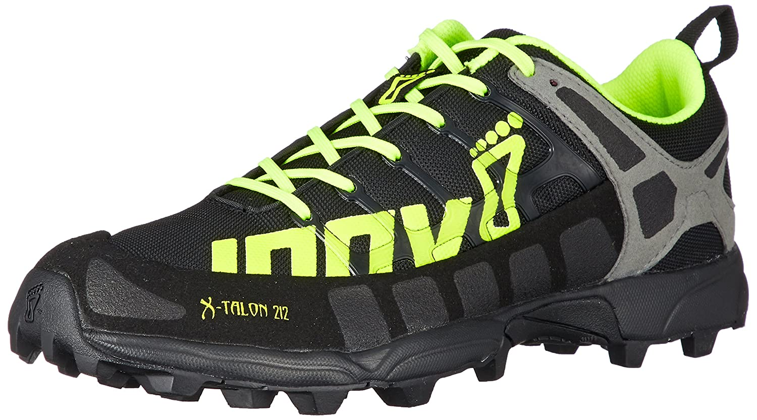 Inov-8 Men's X-Talon 212 (S) Trail-Running Shoe B01G7ZOKNE 6 C US|Black/Neon Yellow/Grey