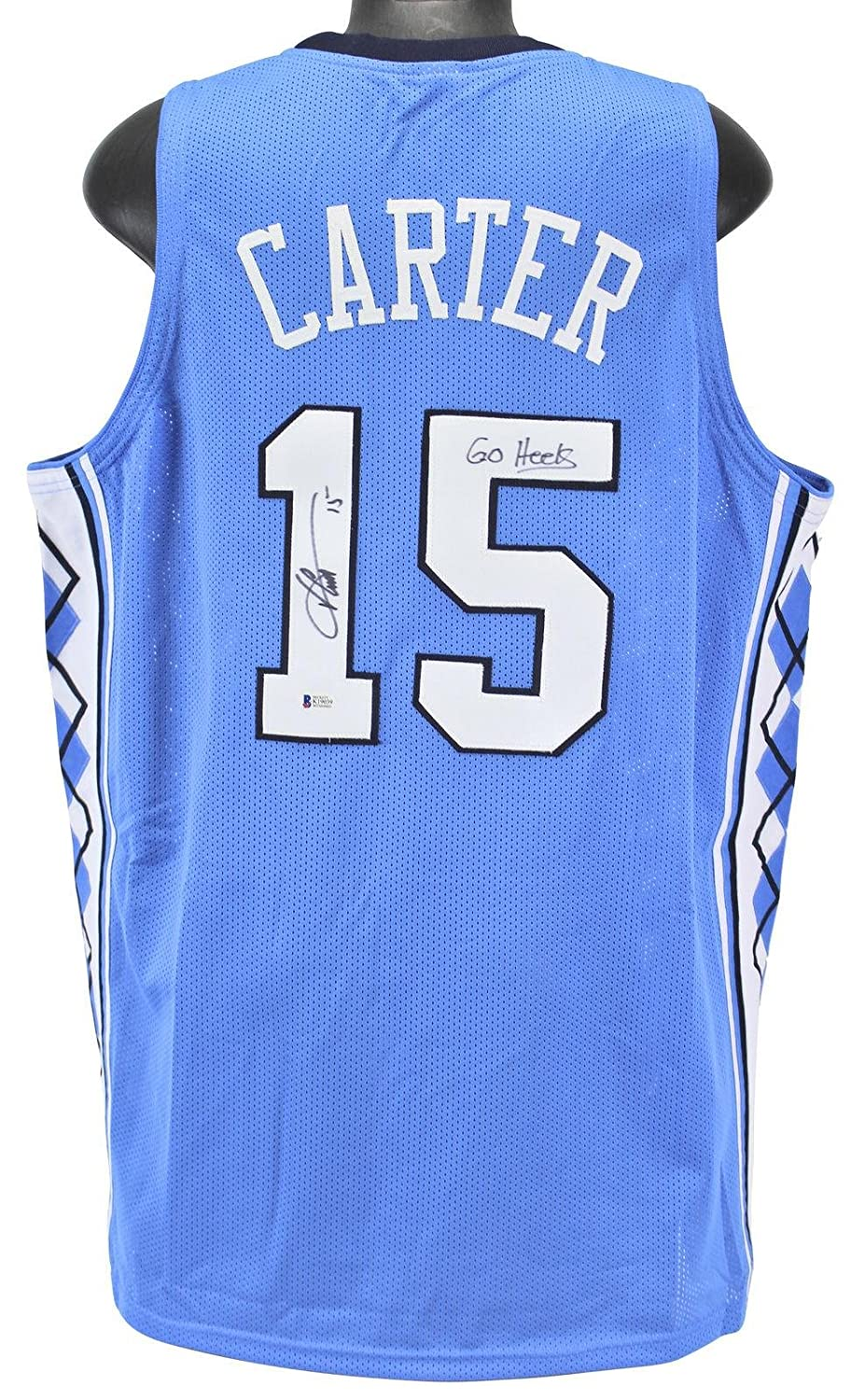 promo code 44460 45410 Vince Carter Autographed Jersey - Go Blue BAS Witnessed ...