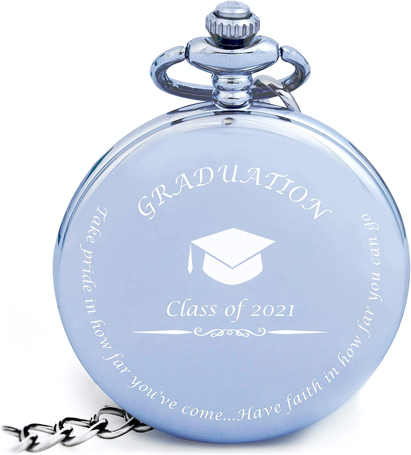 Graduation Gifts For Him Pocket Watch Engraved Class Of 2021 Perfect College High School Graduation Gifts Or Present For Son Him In 2021 Watches