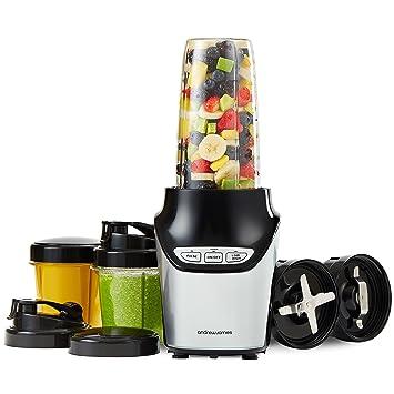 Andrew James - Licuadora y máquina de batidos, 1000 W, incluye 10 piezas: Amazon.es: Hogar