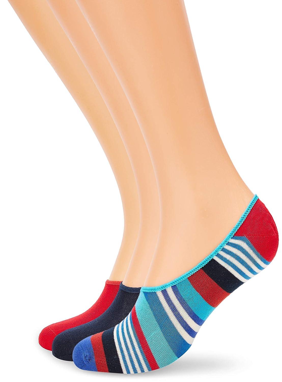 Happy Socks 3-Pack Multi Stripe Liner Sock Calcetines, Multicolor (Multicolour 630), 7-10 (Talla del fabricante: 41-46) (Hombre: Amazon.es: Ropa y accesorios