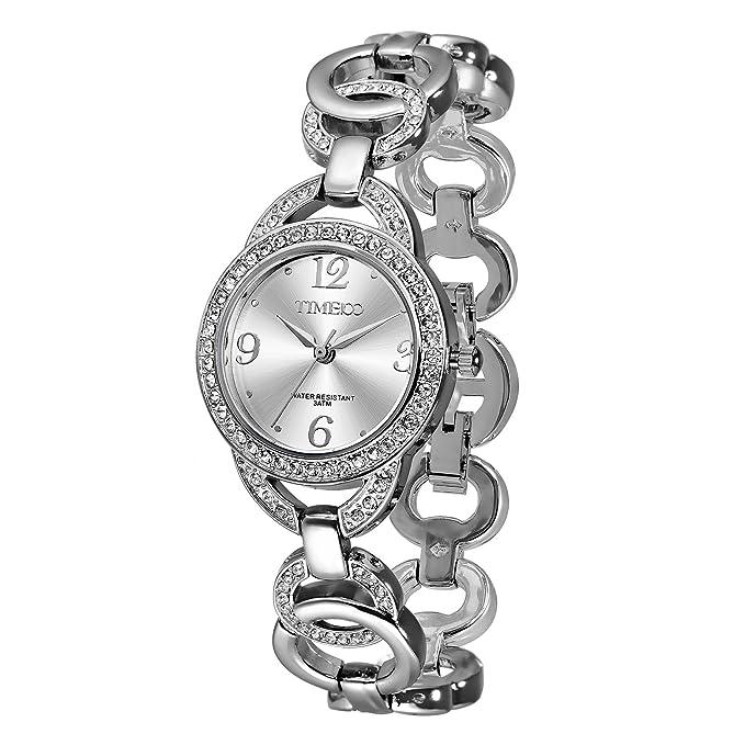 Amazon.com: Time100 Women Fashion Diamond Watch Jewelry Strap Bracelet Quartz Lady Watch #W50377L: Watches