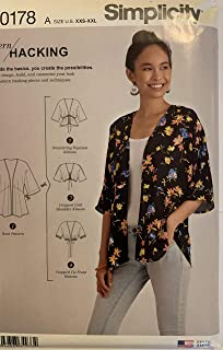 product image for Simplicity Sewing Pattern R10178 / S8887 - Misses' Design Hacking Kimono, Size: A (4-6-8-10-12-14-16-18-20-22-24-26)