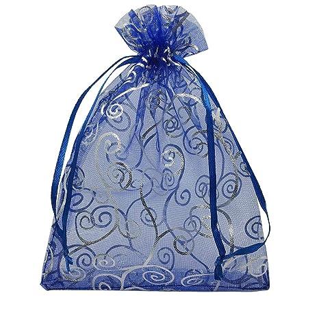 Uteruik - 100 bolsas de organza con cordón, patrón de coral ...