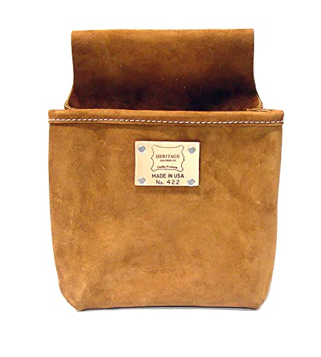 7fdabff2ed75 Image Unavailable. Image not available for. Color  Heritage Leather 422  Single Pocket Professional Split Leather Nail Bag