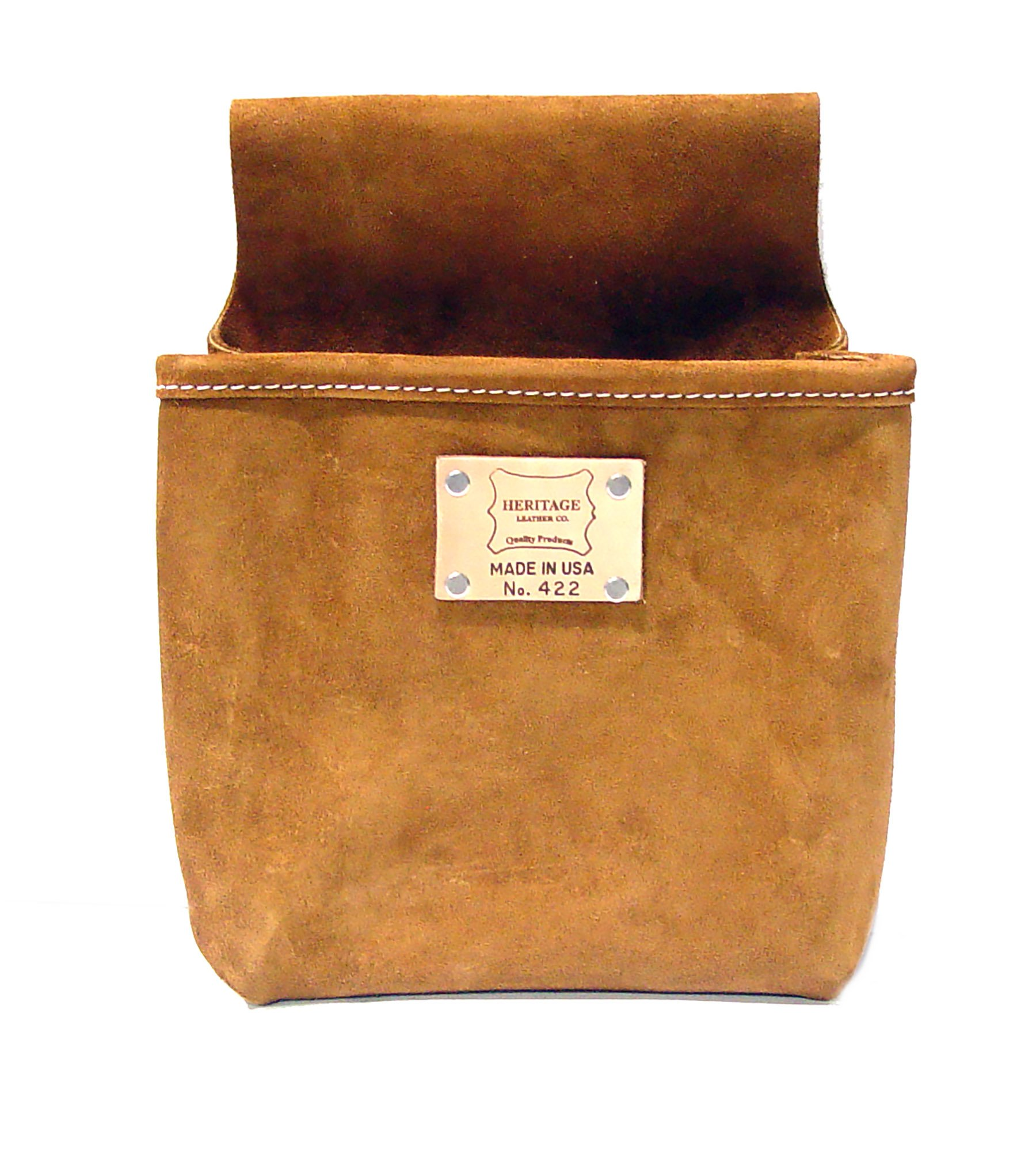 Heritage Leather 422 Single Pocket Professional Split Leather Nail Bag