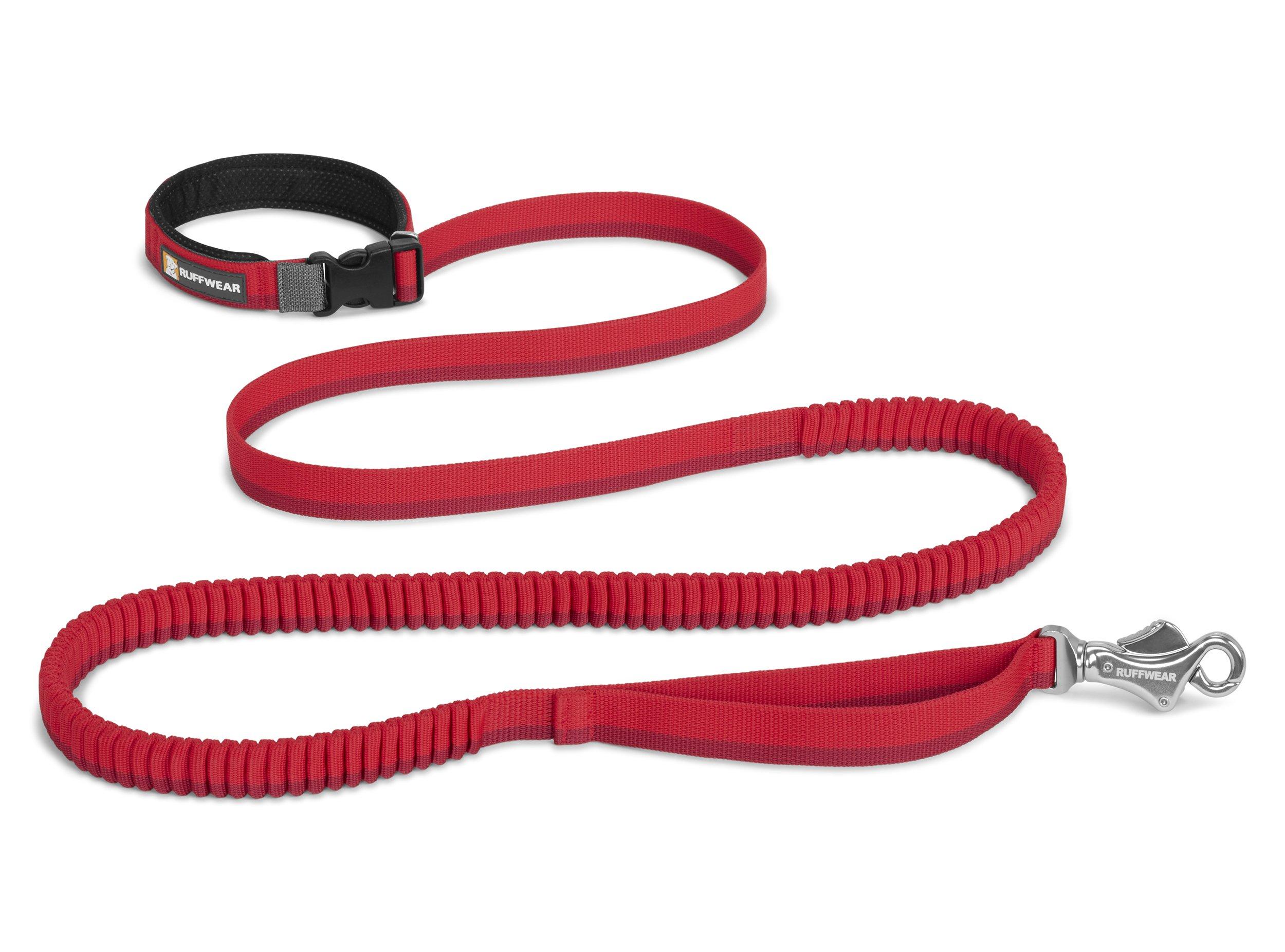 RUFFWEAR - Roamer Extending Dog Leash, Red Currant (2017), 7.3-11 ft