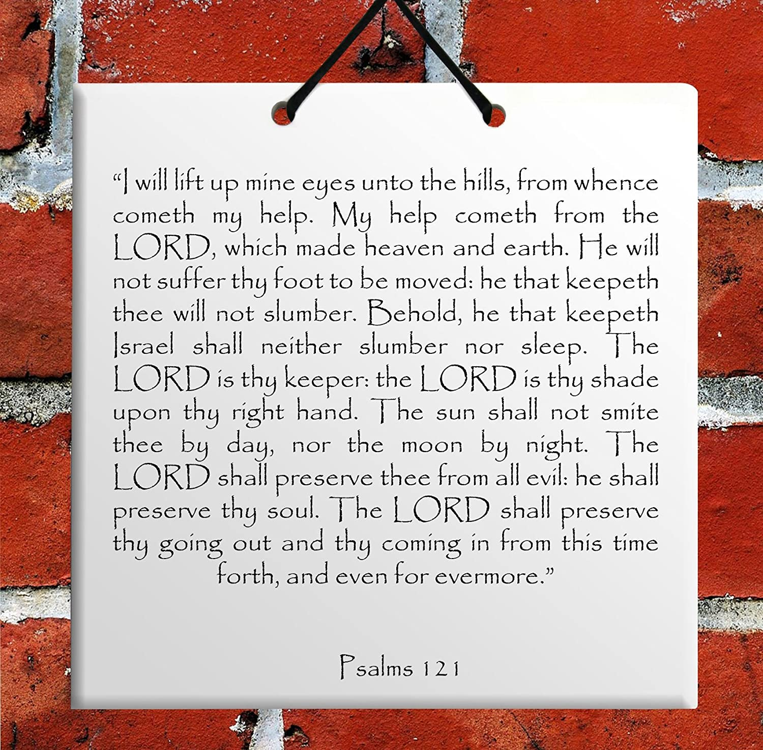 Amazon com: Holy TEHILLIM Psalms Chapter: 121 Wall Hanging