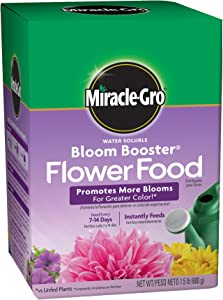 Miracle-Gro Water Soluble Bloom Booster Flower Food, 1.5 lb.