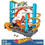 Hot Wheels City Garage Ultime, coffret de jeu pour petites voitures avec circuit et pistes, Jouet pour enfant, FTB69