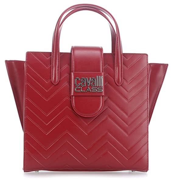 ed899c6b71 Roberto Cavalli Class Alisa Borsa a mano rosso scuro: Amazon.it ...