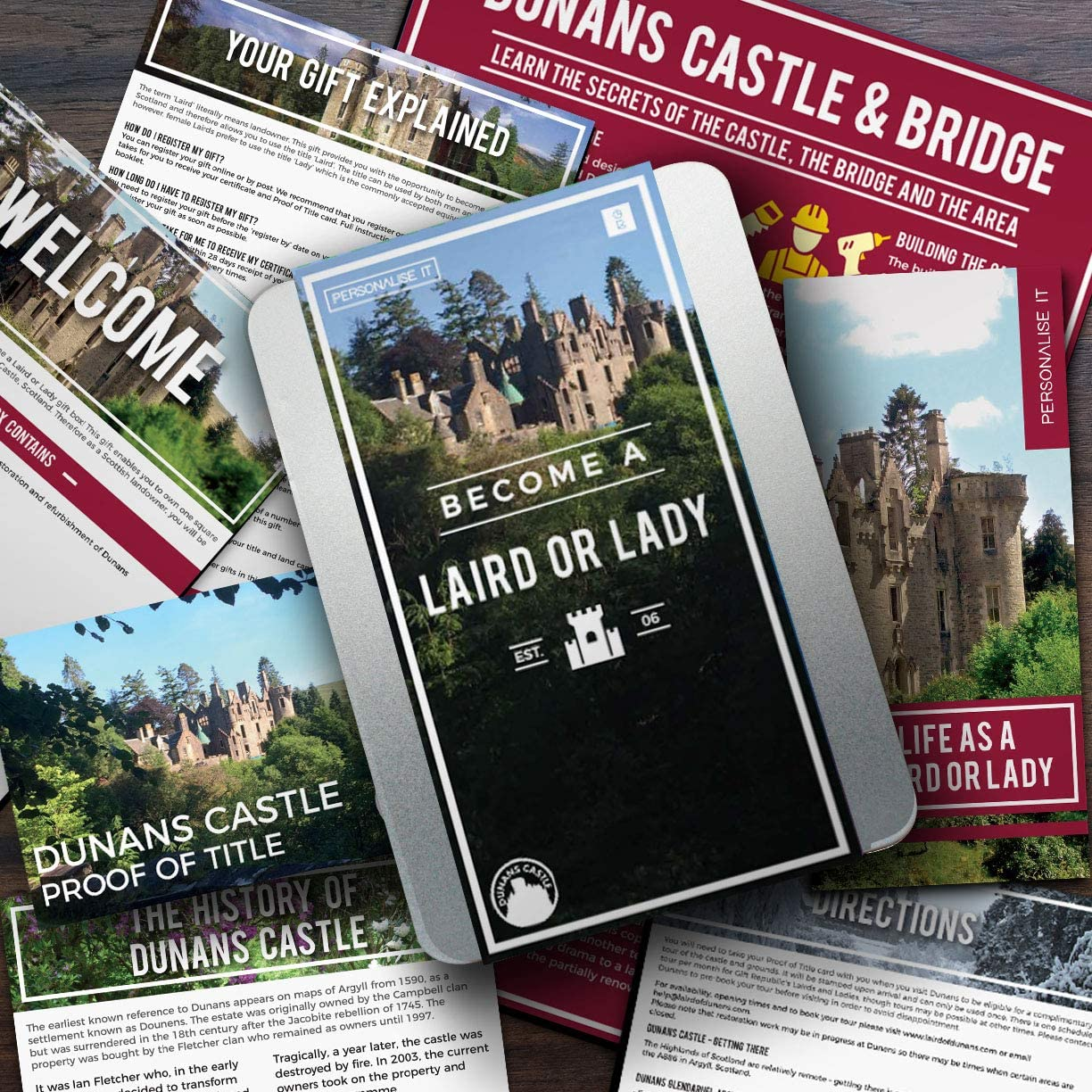 BECOME A SCOTTISH LORD UNIQUE GIFT IDEA LAIRD OR LADY