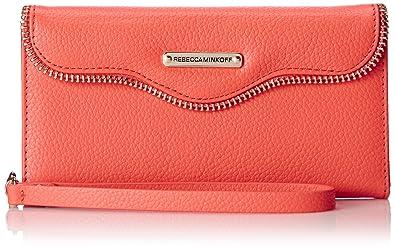 the best attitude 07019 7b3a3 Rebecca Minkoff Iphone 6 Plus Leather Folio Wristlet Cell Phone Case ...