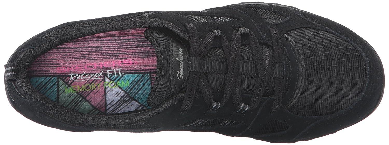 Skechers Damen Breathe-Easy - Good Luck Sneakers Schwarz (Blk)