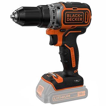 Taladro atornillador Brushless 2 velocidades con 2 baterías de 1,5 Ah y cargador rápido (estuche 18 V) Black & Decker bl186 K1b-qw