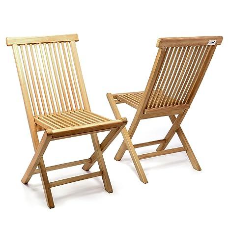Divero silla plegable silla de jardín silla silla de madera ...