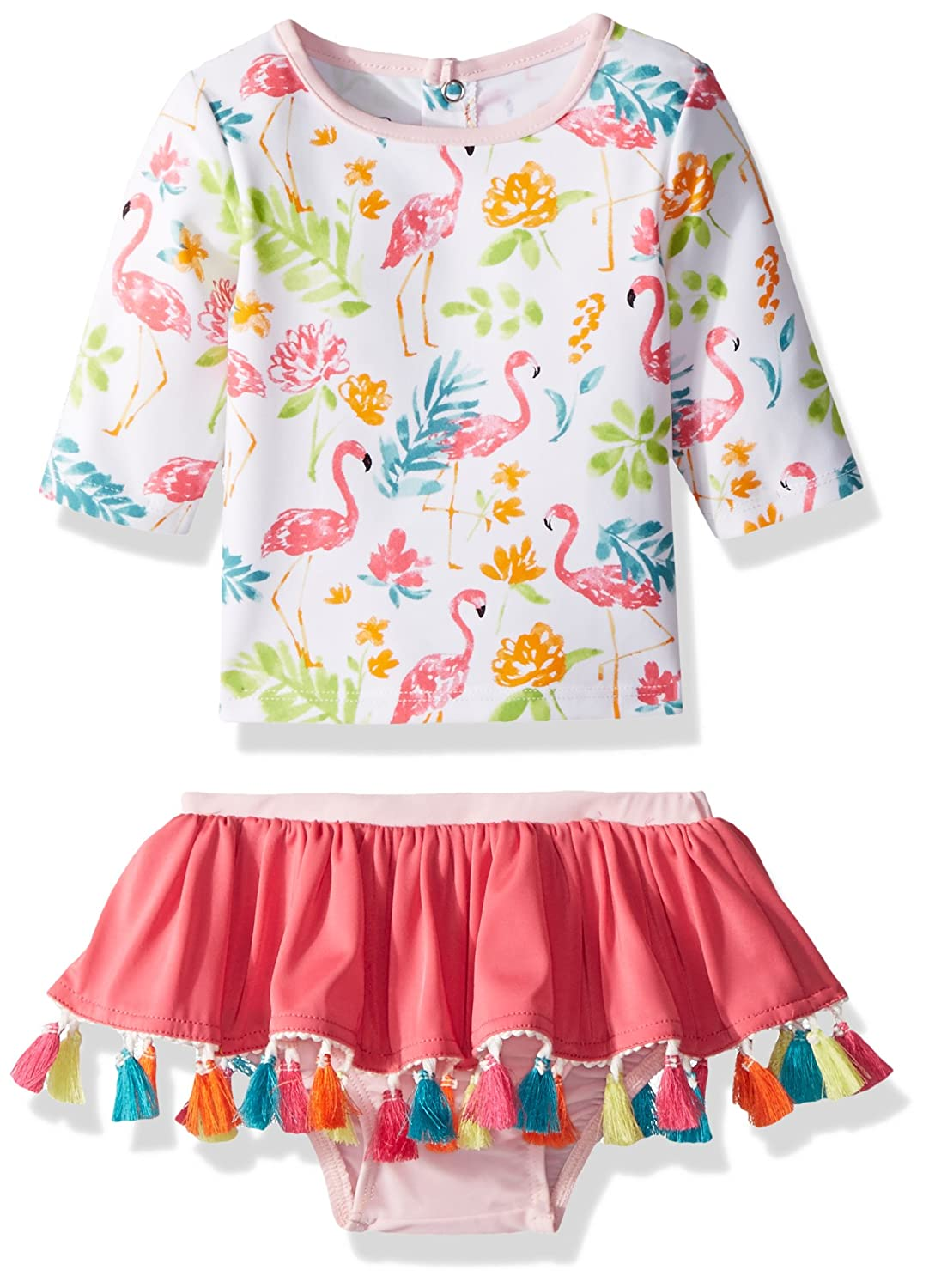 e321b7d82 Online Cheap wholesale Mud Pie Baby Girls Floral Flamingo Two Piece Rash  Guard Swimwear Suppliers