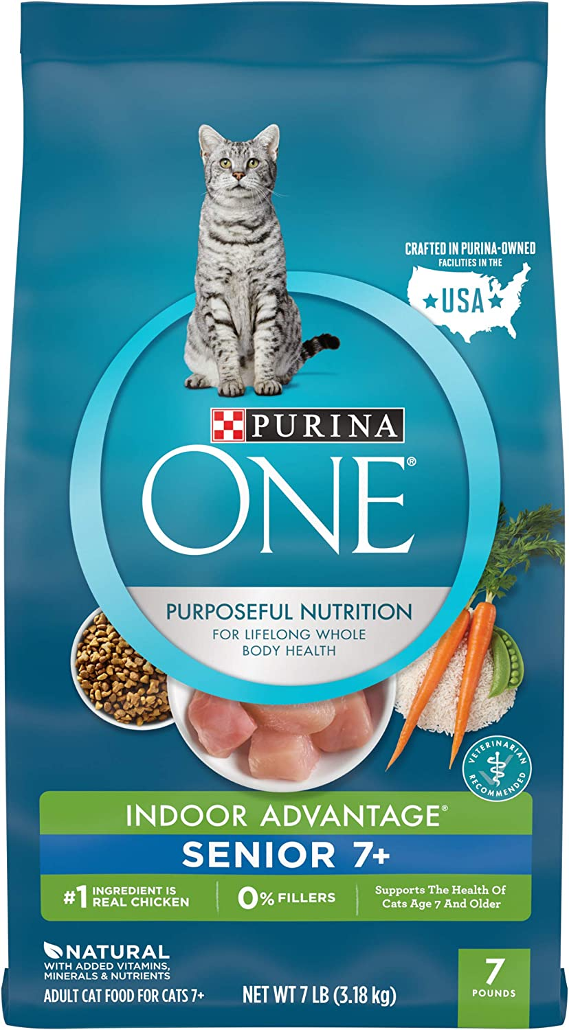 Purina ONE Vibrant Maturity Senior 7+ Adult Dry & Wet Cat Food